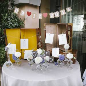 country chic wedding, le tableau mariage